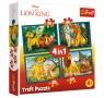 Puzzle 4w1: Król Lew i przyjaciele (34317)