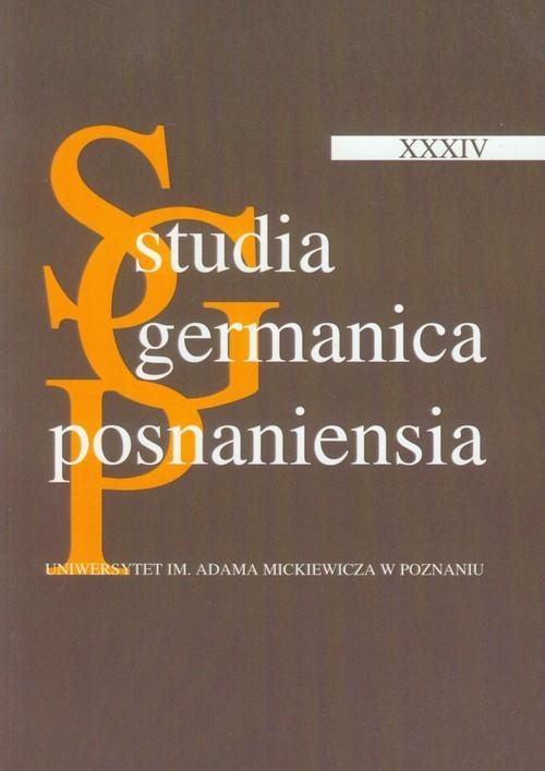 Studia Germanica Posnaniensia XXXIV