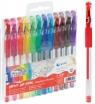 Długopisy żelowe z brokatem Fiorello, 12 kolorów (422617)