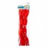 Ozdoba dekoracyjna druciki powlekane czerwone 30el