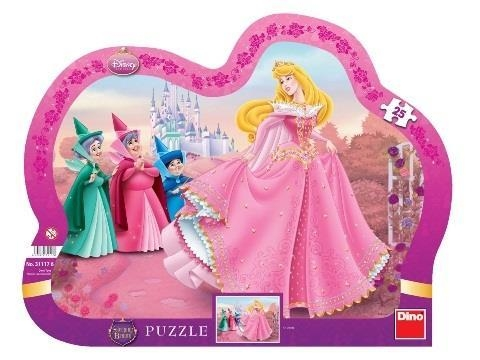 Puzzle ramkowe Śpiąca Królewna. 25 elementów (311176)
