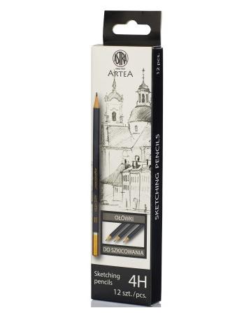 Ołówek do szkicowania 4H Astra Artea - box 12 sztuk (206118011)