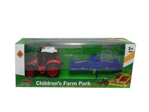 Traktor z maszyną rolniczą 31 cm.