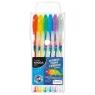 Długopisy Kidea żelowe z brokatem 6 kolorów