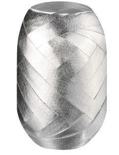 Wstążka kłębuszek 15m/8mm srebrna wytłaczana