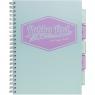 Kołozeszyt A4/100k Pukka Pad Project Book Pastel - morski (8630S(TL)-PST)