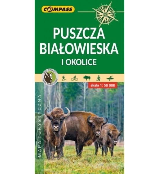 Puszcza Białowieska i okolice, 1:50 000 - mapa turystyczna (1581-2020)
