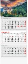 Kalendarz 2021 Trójdzielny LUX mix wzorów Praca Zbiorowa