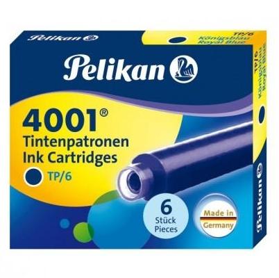 Naboje krótkie Pelikan 4001 TP/6, 6 szt. - niebieskie (301176)