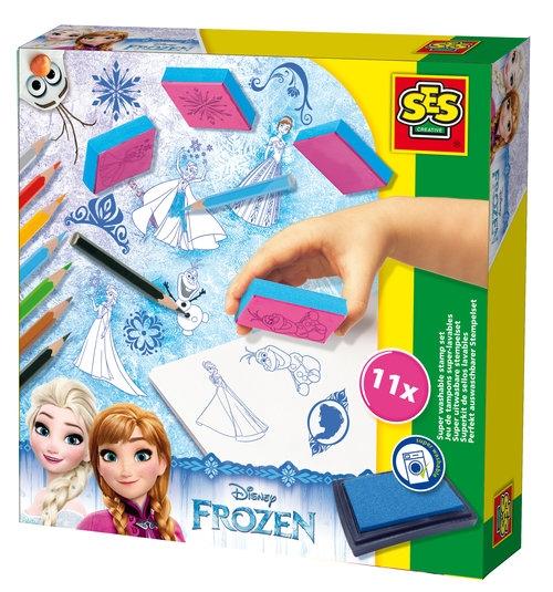 Zestaw pieczątki + kredki Frozen