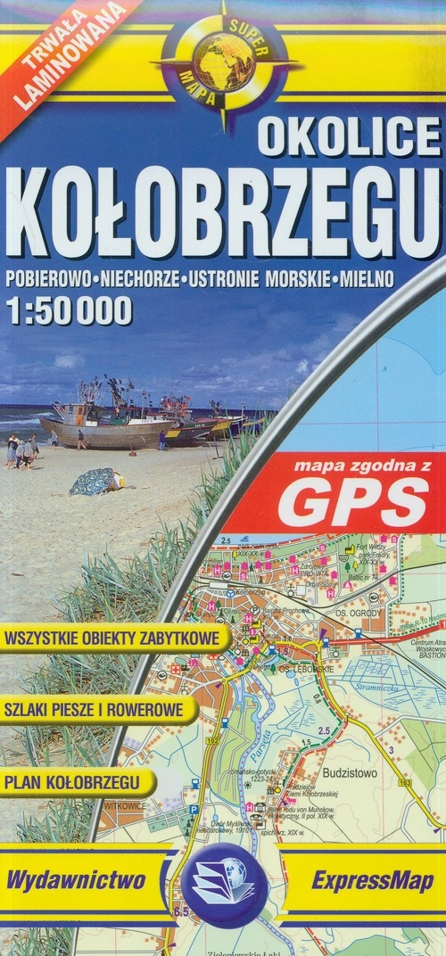 Okolice Kołobrzegu Mapa turystyczna laminowana