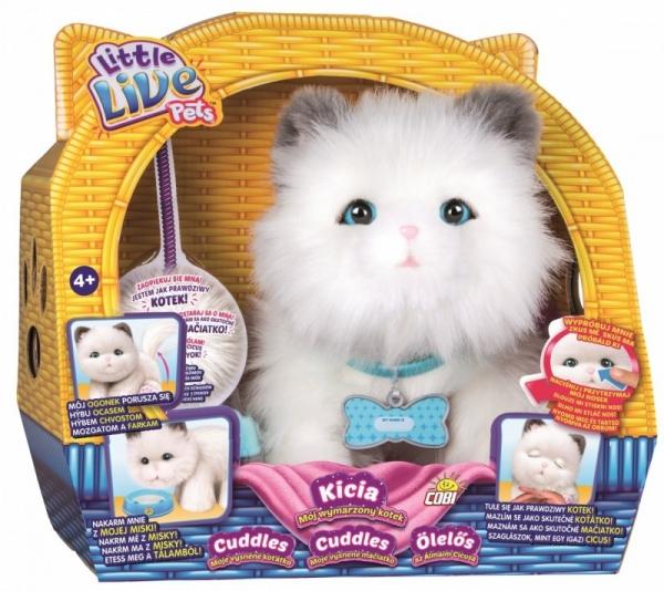 Maskotka interaktywna Little Live Pets Cuddles Kicia - Mój wymarzony kotek (28330)