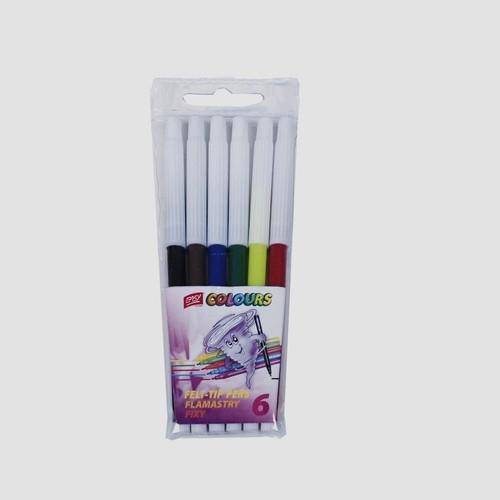 Flamastry 6 kolorów