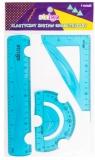 Zestaw geometryczny elastyczny niebieski STRIGO