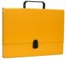 Teczka-pudełko Office Products PP A4 5cm, z rączką i zamkiem, żółta