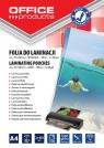 Folia do laminacji Office Products A4 216x303mm błyszcząca 100 sztuk transparentna