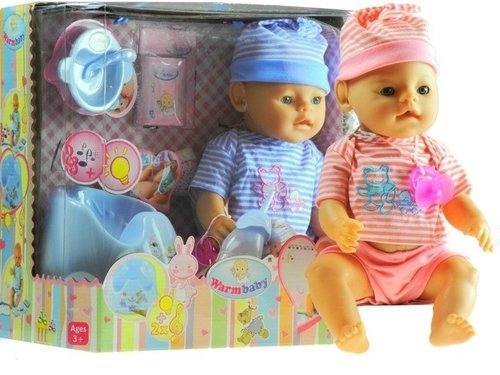 Interaktywna lalka baby + grający nocnik