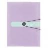 Teczka A4 z gumką PP trans. pastel lila