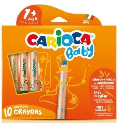 Kredki Baby 10 kolorów 3w1 Carioca (42818)