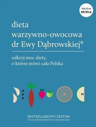 Pakiet: Dieta warzywno-owocowa dr Ewy Dąbrowskiej Dąbrowska Beata Anna, Borkowska Paulina