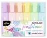 Zakreślacze pastelowe, zestaw 6 kolorów Kidea (DRF-080182)