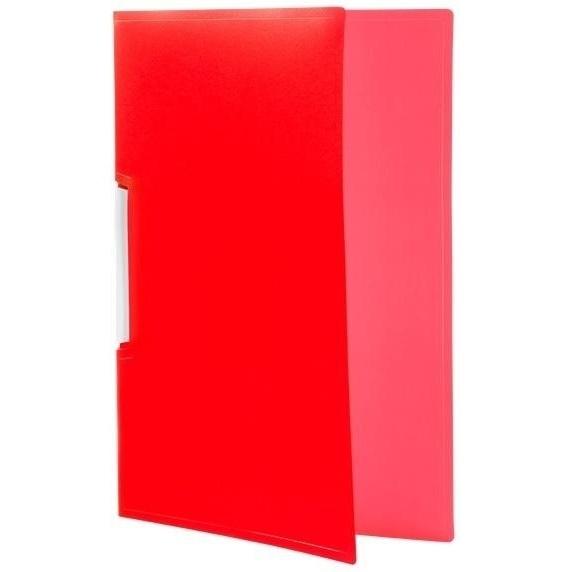 Skoroszyt Tetis PP zaciskowy A4, 12 szt. - czerwony (BT620-C)
