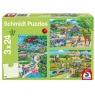 Puzzle 3x24: Dzień w zoo