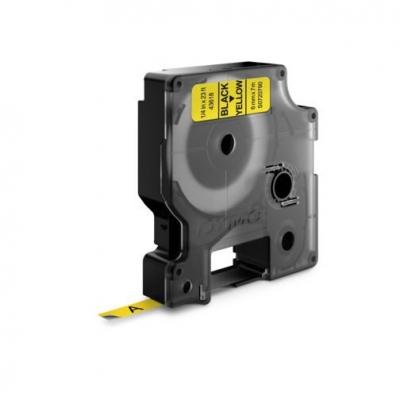 Taśma Dymo D1 6 mm x 7 m żółta/czarny nadruk