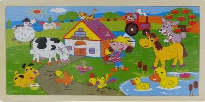 Układanka Puzzle Farma 45x22x0,5cm .