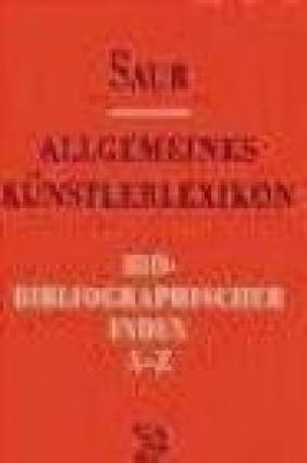 Allgemeines Kunst. Bio-Biblio v 8 Index A-Z