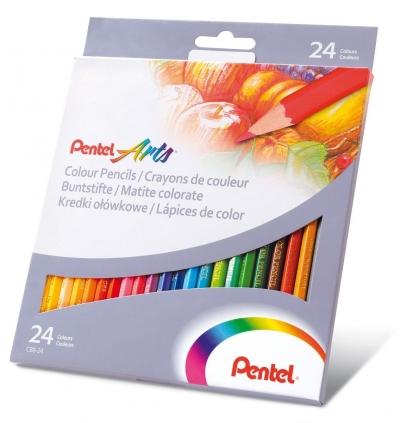 Kredki ołówkowe Pentel 24 kol. (CB8-24U)