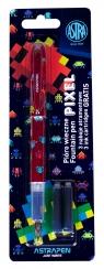 Pióro młodzieżowe Pixel - 1 szt. + 3 naboje (203120008) mix kolorów