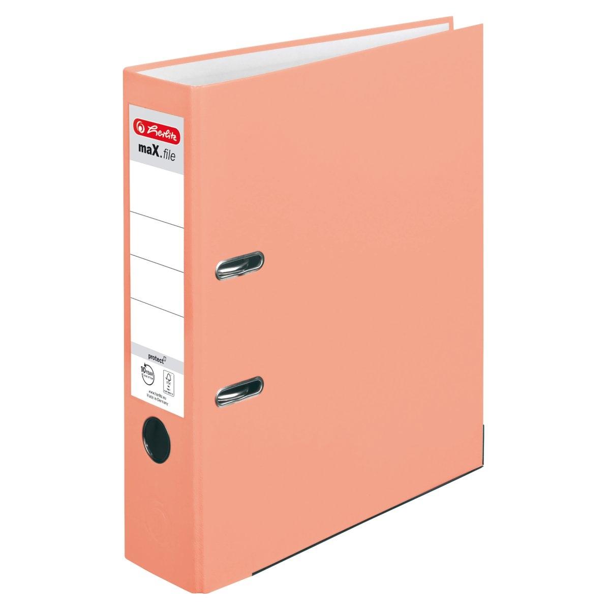 Segregator maX.file protect A4 8cm łososiowy (50028467)