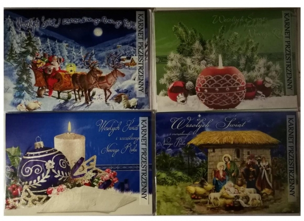 Karnet Boże Narodzenie A5 duży + koperta