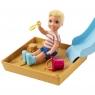 Barbie Skipper: Zestaw z piaskownicą i zjeżdżalnią (FXG94/FXG96)