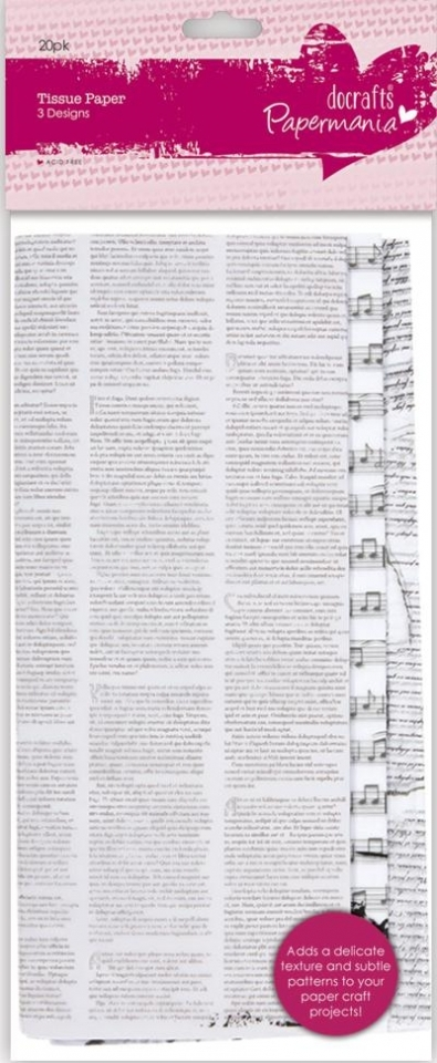 Bibuła wzorzysta PAPERMANIA (20 arkuszy) PMA-169204