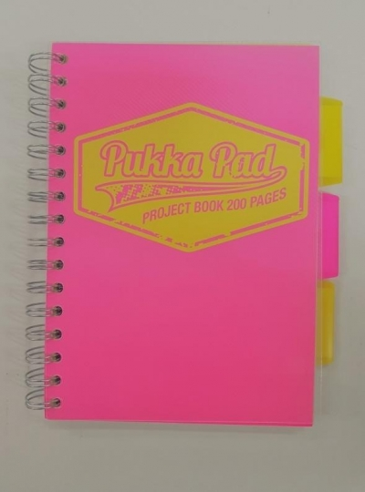 Project book Neon A5/100K kratka (3szt) PUKKA