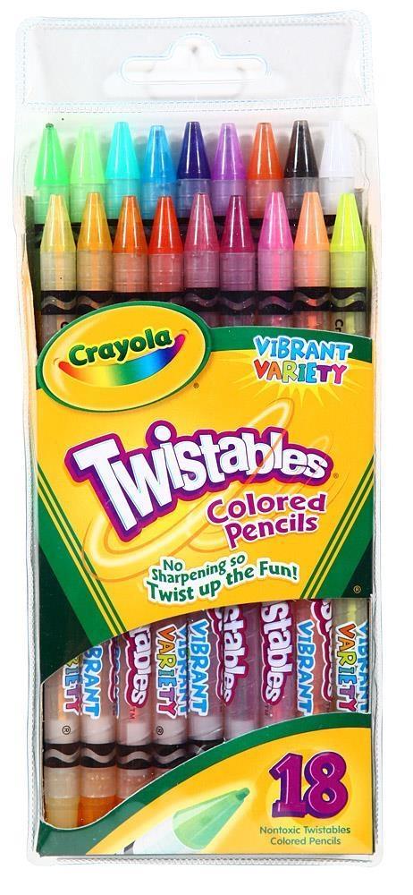 Crayola Kredki ołówkowe Twstables 18