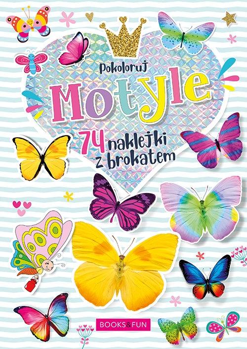 Kolorowanka Motyle plus naklejki z brokatem Opracowanie zbiorowe