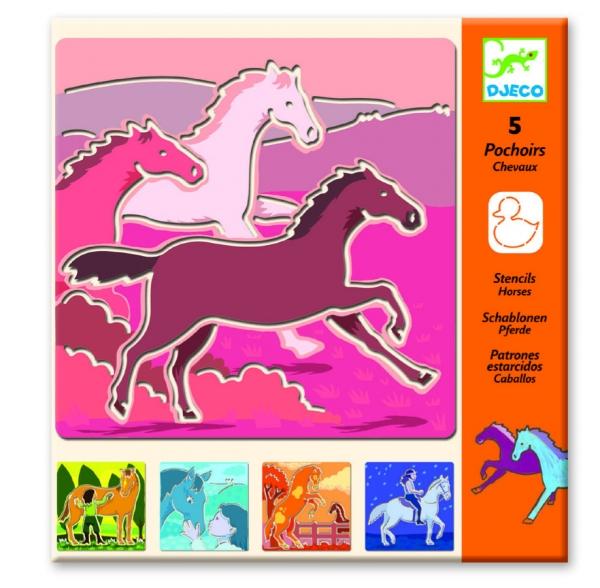 Szablony do odrysowania Konie (DJ08818)