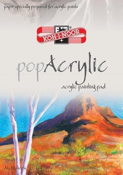Blok artystyczny Pop Acrylic A4, 10 arkuszy (231999)