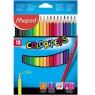 Kredki Colorpeps trójkatne 18 kolorów MAPED