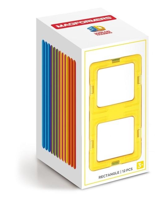 Klocki magnetyczne 3D Magformers Prostokąty 12 elementów (713019)