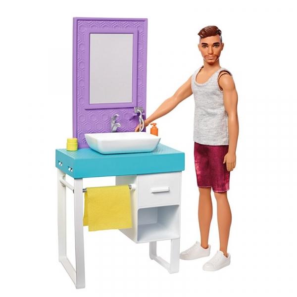 Ken lalka domowe zajęcia - golenie
