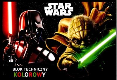Blok techniczny A4/10 kolorowy Star Wars .