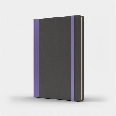 Notatnik B5 Pro L kropki szary/fioletowy