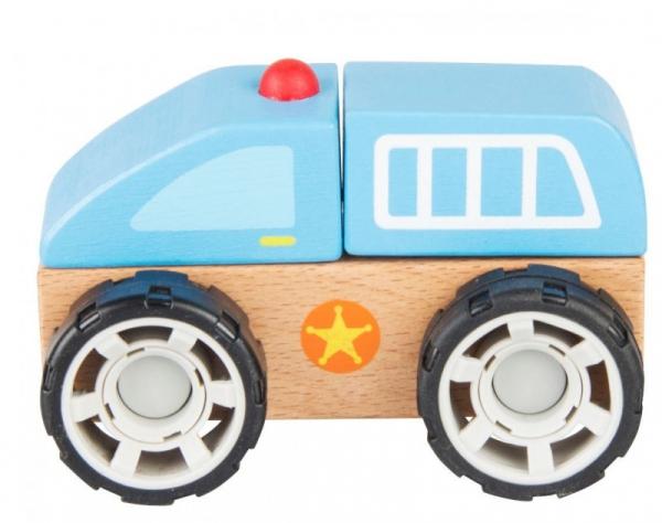 Klocki drewniane samochód Policja (13020)