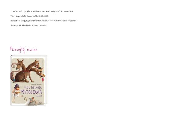 Moja pierwsza mitologia Księga I Marciniak Katarzyna