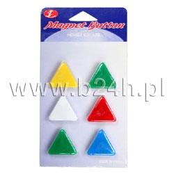 Magnesy Titanum trójkątne 21 mm (mix) (25017)