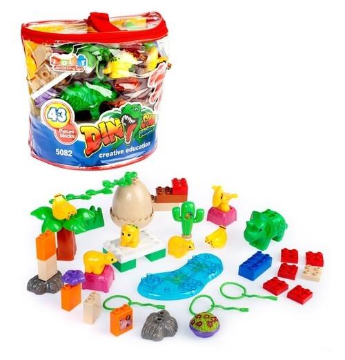 Klocki plastikowe 43 elementy Dino